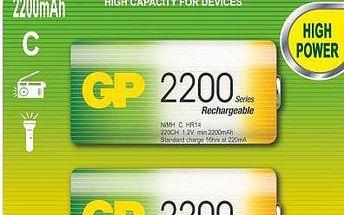 GP Rechargeable, nabíjecí HR14 2200 Ni-MH, 2ks - 1032312010