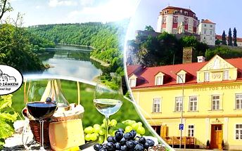Jižní Morava, Vranov nad Dyjí: vinařský pobyt na 3 nebo 4 dny pro 2 osoby s polopenzí