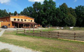 3 dny na Ranči Bučiska s polopenzí a jízdou na koni pro 2 osoby + 1 dítě do 12 let zdarma