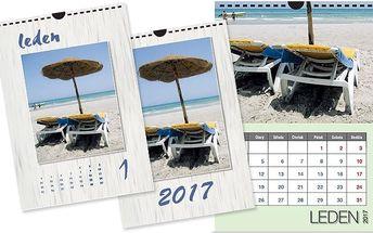 Nástěnný kalendář s vašimi fotografiemi na křídovém papíře ve formátu A4 nebo A3