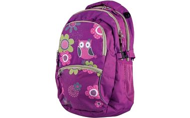 Batoh školní Stil teen Owl zelené/růžové/fialové