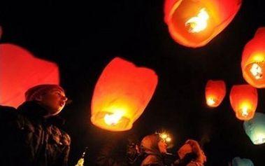 Lampion přání v pestrých barvách - dodání do 2 dnů