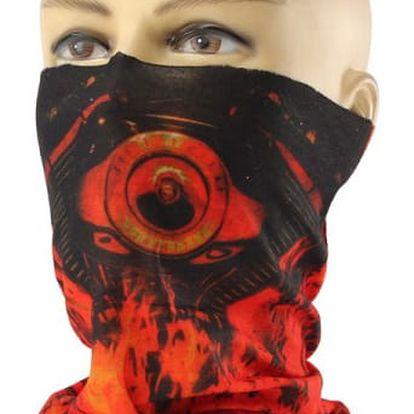 Motorkářský ohnivý šátek