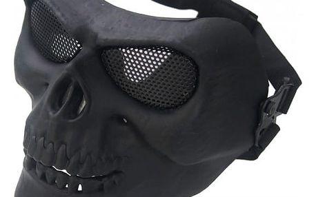 Taktická obličejová maska na outdoorové hry v podobě lebky