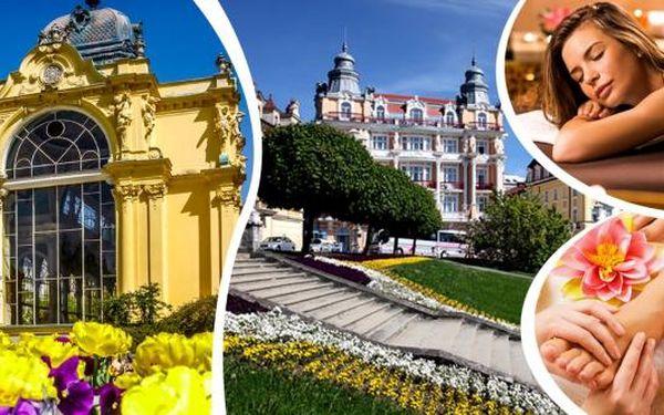 Wellness pobyt pro dva. Ubytování v prvorepublikovém hotelu Romania 200 m od kolonády s polopenzí a spoustou wellness procedur. 3, 4 nebo 6 denní dovolená plná hýčkání v Mariánských Lázních.