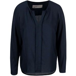 Tmavě modrá halenka s dlouhým rukávem Vero Moda Luca
