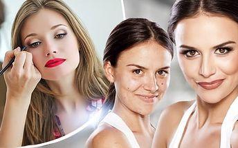 Kompletní 3hodinová letní proměna vizáže - kosmetické ošetření pleti + nový střih, barva i líčení!