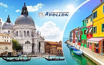 Itálie - Benátky, 3denní poznávací zájezd pro 1 osobu s průvodcem z Brna