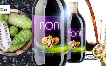 Jemná šťáva Allnature Premium Noni BIO 500 ml pro posílení imunity a zvýšení vitality