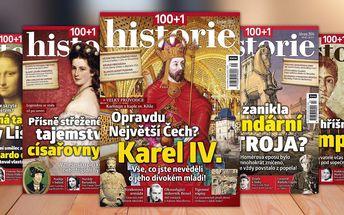 Předplatné časopisu 100+1 historie – rozlouskněte historické záhady