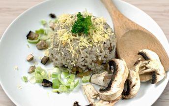 Veganské rizoto v nově otevřené restauraci