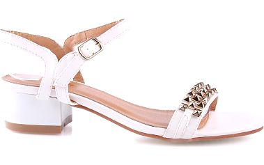 Bílé sandálky SK6-41WH 38