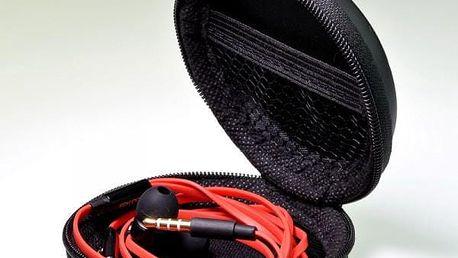 Pouzdro na sluchátka - černá barva - skladovka - poštovné zdarma
