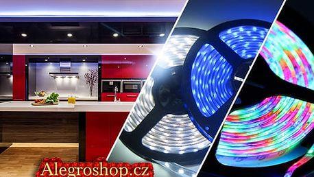 Bílé a barevné LED pásky do interiéru nebo vodotěsné do exteriéru + příslušenství