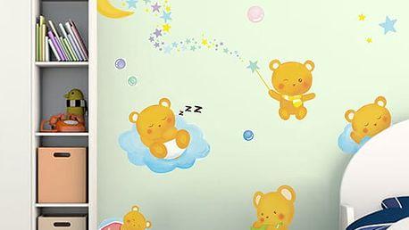 Dětská samolepka na zeď - ospalí medvídci