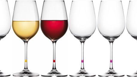 6x sklenice na víno Tescoma - na bílé i červené