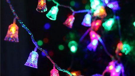 Světelný LED řetěz se zvonečky