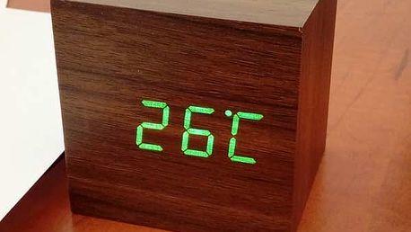 Dřevěné USB hodiny s budíkem!