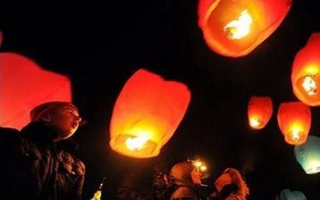 Lampion přání v pestrých barvách