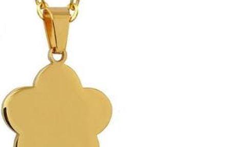 Sada šperků z chirurgické ocele - čtyřlístek - stříbrná, zlatá