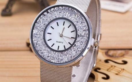 Hodinky v luxusním provedení s kamínky - dvě barvy