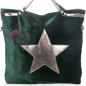 Dámská kabelka Co & Coo Fashion Star s hvězdou a bambulí