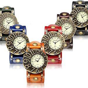 Vintage unisex hodinky se stylovým ciferníkem