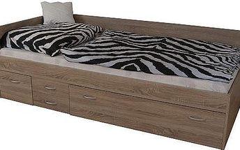 Kvalitní postel s úložným prostorem Aleš