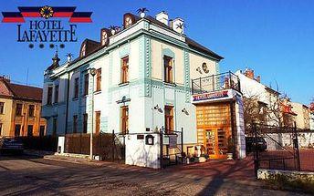 Luxusní Lafayette**** hotel v klidné části Olomouce pro dva s polopenzí