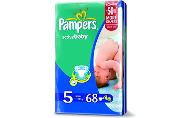 Pampers Active baby 5 junior 11 - 18 kg 64 kusů