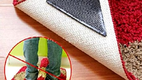 Silikonové protiskluzové samolepky na koberec 4 ks