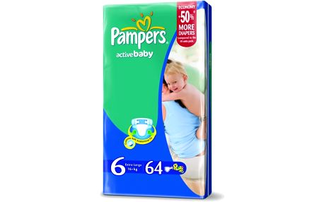 Pampers Active baby 6 extra large 15+ kg 56 kusů