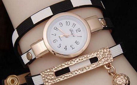 Dámské hodinky v podobě vícevrstvého náramku - 5 barev