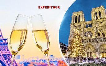 Paříž - advent nebo silvestr, 3denní zájezd pro 1 osobu s průvodcem z Prahy a dalších