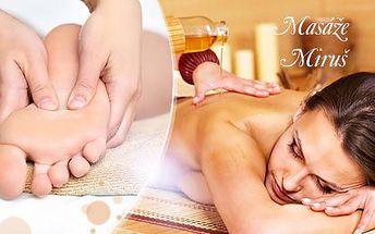 Masáž šíje, zad, ramen a plosek nohou v délce 30 či 60 minut s olejíčkem dle výběru