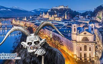 Rakousko - Salzburg, 1denní zájezd pro 1 osobu na rej čertů a vánoční trhy z Prahy