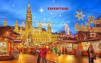 Adventní Vídeň, 1denní zájezd pro 1 osobu na vánoční trhy s průvodcem z Prahy