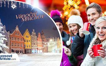 Mnichov, Německo: Zájezd na 1 den pro 1 osobu na vánoční trhy + doprava z Prahy a Plzně zdarma