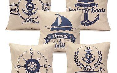 Povlak na polštářek - námořnické motivy