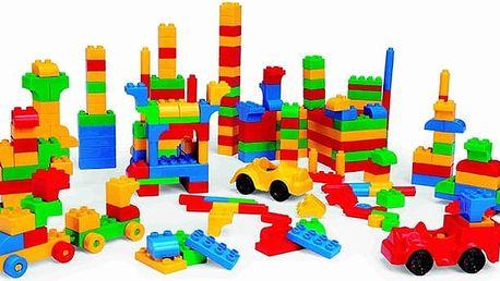 600 ks velkých kostek stavebnice pro děti