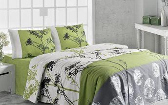 Přehoz přes postel Belezza Green o rozměrech 200x230 cm
