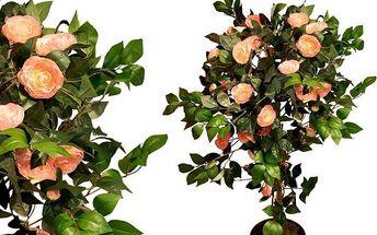 Umělá květina - Kamélie růžová 140 cm