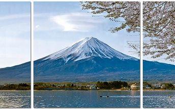 Třidílný obraz hora OBK051