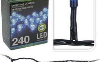 Vánoční světelný řetěz venkovní, 240 LED, modrá barva ProGarden KO-AX8202540