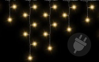 Vánoční světelný déšť 72 LED teple bílá - 2,7 m