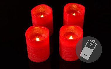 Dekorativní LED sada - 3 adventní svíčky - červená