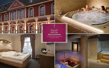 Jedinečný balíček pro dva s čokoládovým zábalem, aroma masáží, perličkovou koupelí a bohatou polopenzí v Hotelu Millenium