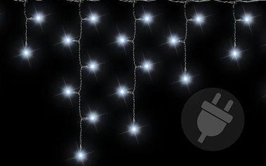 Vánoční světelný déšť 144 LED studená bílá - 5 m