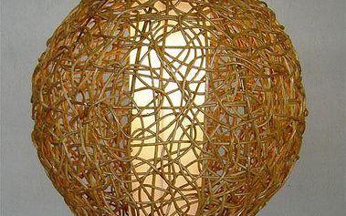 Dekorativní stínidlo závěsné KOULE světlý med
