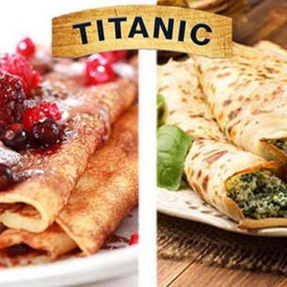 50% sleva na francouzské sladké i slané palačinky (Crepes) v restauraci Titanic